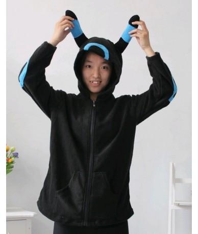 Cute Cosplay Anime Coon Costume Ears Face Tail Zip Hooded Sweatshirt Raccoon Hoodies Jacket - as photo - 443704002878-7