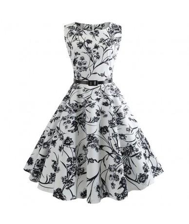 Plaid Print Vintage Dress Women Summer Floral Swing Party Dresses Hepburn 50s 60s Plus Size Retro Elegant Robe feminino Vest...
