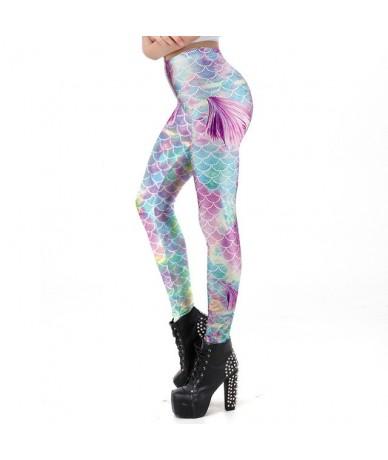 Summer Style Mermaid Scale Women leggings 3D Printed Colorful Cute Gradient Workout Leggins Sexy Ankle Pant - KDK1819 - 4N30...