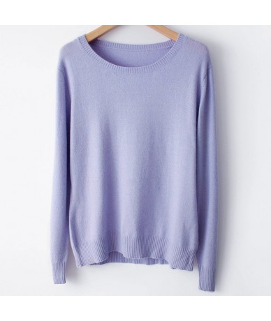 Spring Winter O-neck Cashmere Wool Sweater Autumn Women Solid Big Long Sleeve Pullovers Jumper Knitted Sweaters Plus Size - ...