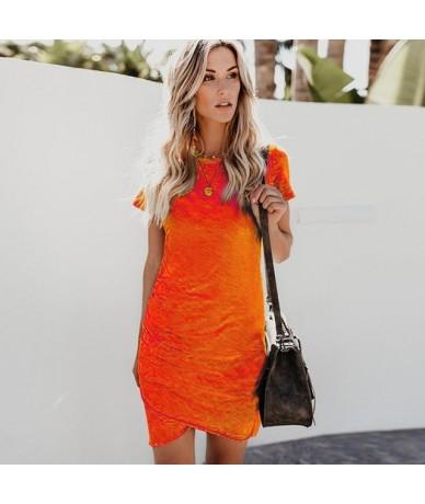 Sexy Dresses Women Summer Mini Dress Short Sleeve Solid Bodycon Slim Party Dress Casual Bodycon Beach Dress Vestido Plus Siz...