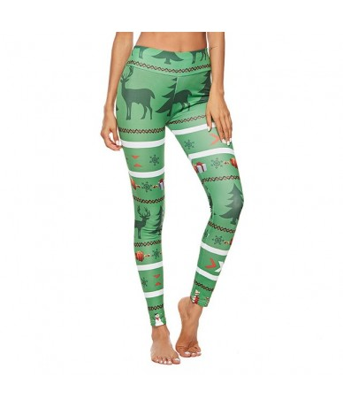 Christmas Trousers For Women Lady Casual Elasticity Skinny Leggins Mujer High Waist Workout Printing Stretchy Pants leggings...