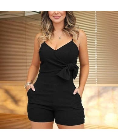 White Summer Playsuit Women 2019 Red Spaghetti Strap Sexy Playsuits and Jumpsuits Plus Size Short Jumpsuit For Women Romper ...
