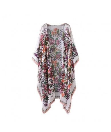 New Women Chiffon Kimono Cardigan Floral Leopard Print Asymmetric Boho Loose Outerwear 2019 Summer Beachwear Plus Size Cover...