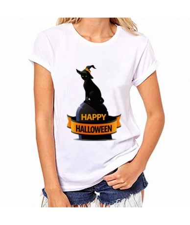 2017 Womens Brand Clothing Summer Women T Shirt Short Sleeve O-neck Casual Funny Black Cat Tops Tees Female Ladies T-Shirt -...