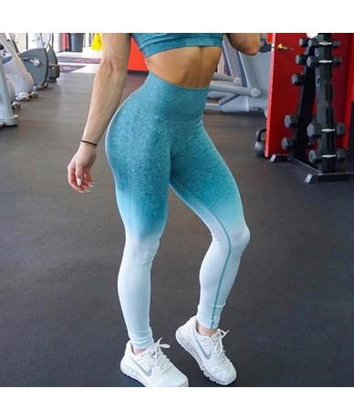 Women Seamless Leggings High Waist Workout Leggings Sporting Activewear Sweat Pants Jegging Ladies Fitness Leggings - Green ...