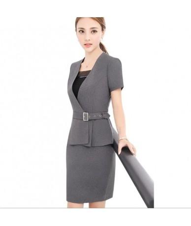 Women Skirt Suit New Spring Fashion Professional Summer Elegant Formal Blazer And Skirt Office Ladies Plus Size Uniforms - g...