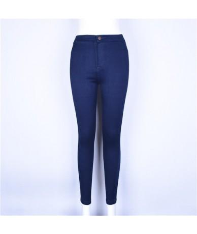 High Waisted Jeans Skinny Fashionnova Woman Pencil Pants Raise The Hip Cotton High Elasticity Jeans Woman - Dark Blue - 4641...