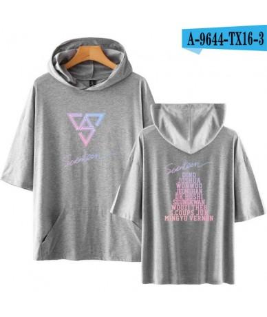 2018 SEVENTEEN Korean Kpop Short Sleeve Hoodies Sweatshirt Fashion Album Harajuku Women Men Fashion Hoodies Clothes Plus Siz...