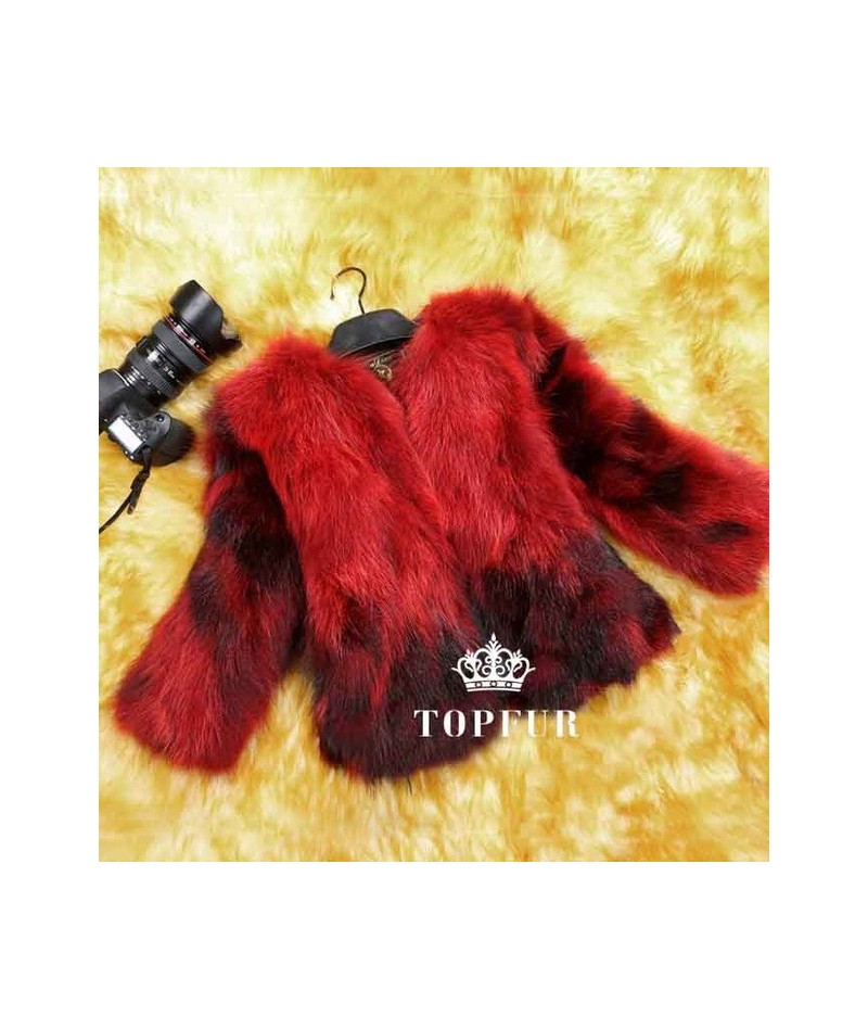 Natural Real Fox Fur Coat Genuine multi colors Fox Fur waistcoat Fashion Factory Wholesale Retail Customize Jacket TFP523 - ...