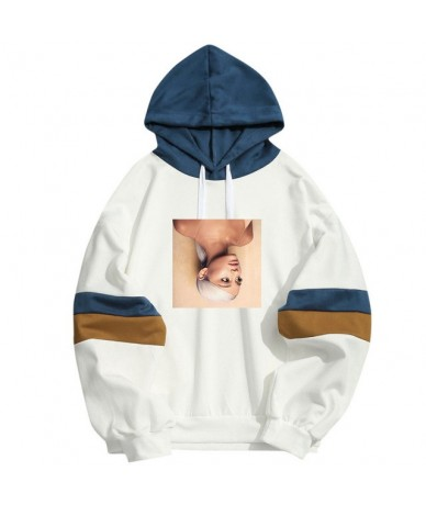 Spring Summer Harajuku Ariana Grande Hooded Men Women Arianator Pullover Streetwear Hip Hop Patchwork Girls Hoodies Sweatshi...