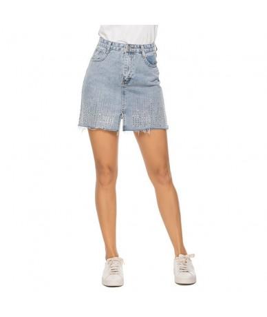 ladies mini skirt Womens Fashion Summer Pocket Casual Denim Sexy Dress Ladies Jeans Skirt T724 - Beige - 5Q111143017035