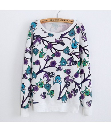 2019 New Autumn Girls Floral Sweatshirts Casual Women Tracksuits Cotton 3D Terry Printed Crew Neck Long Sleeves Pullovers - ...