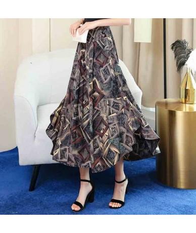 Wide Leg Pants Women Summer 2019 Casual Print Streetwear High Waist Pants Casual Floral Beach Trousers - Color 3 - 414110574...