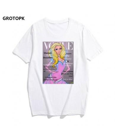 Vogue Princesses Collection T Shirt Women Jasmine Snow White Alice Fashion Tshirt White T-shirt Femme Tshirt Casual Tops Tee...