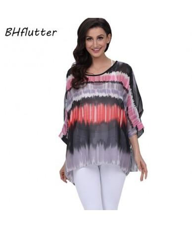 2018 Women Tops Tees Batwing Sleeve Casual Summer Blouses New Arrival Fashion Boho Style Chiffon Blouse Shirt Blusas - pictu...