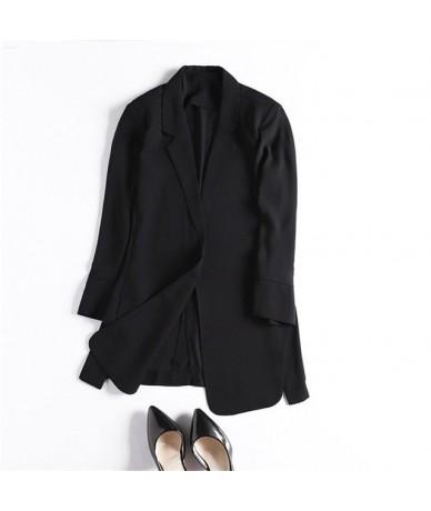 Chiffon Office Ladies Blazer Women Coat Casual Suit Jacket Female Elegant Streetwear Suit Jacket Women White Blazer Coat Q15...