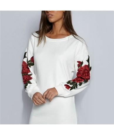 2019 women hoodies sweatshirts ladies autumn winter fall clothing sweat rose festivals classics elegance shirts hoodies - wh...