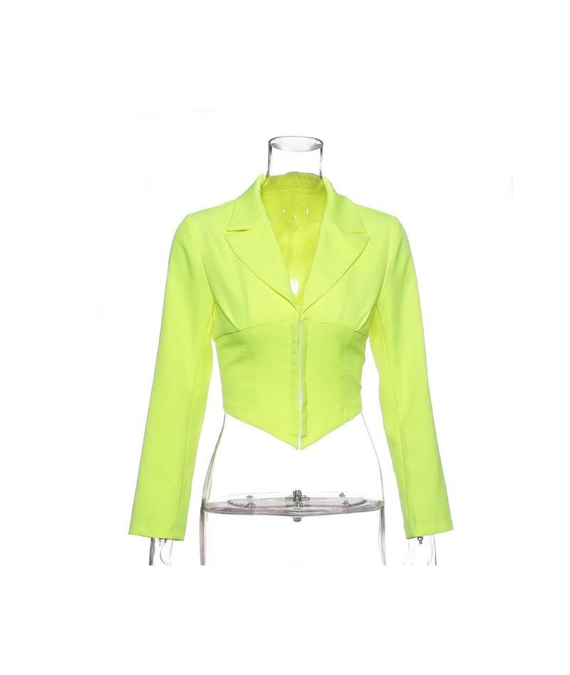 2019 New Ladies Blazer Long Sleeve Blaser Women Suit Bodycon Jacket Female Outwear Deep V Neck White Sexy Club Blazer Coat -...