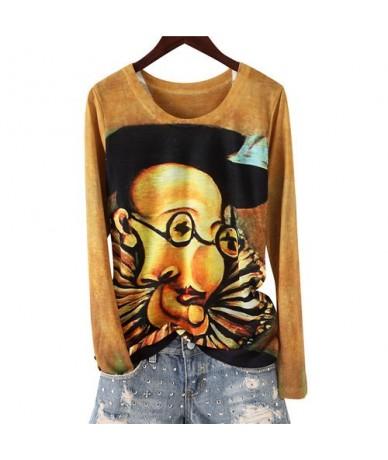 3XL 4XL Autumn T Shirt Women hip hop punk t shirt oversized tee shirts Abstract Eye harajuku casual Tshirt tops clothes AA16...