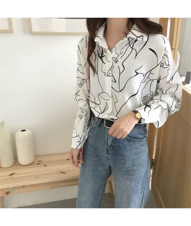 Print Single Breasted Chiffon Women Blouse Casual Chic Vintage Female Top 2019 Autumn New Fashion Loose Grace Blusa 69192 - ...