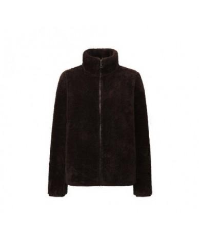 Autumn Winter Women Jackets 2018 New Polar Fleece Fabric Jacket with Zipper Casual Women Outerwear Jacket - dark coffee - 4F...