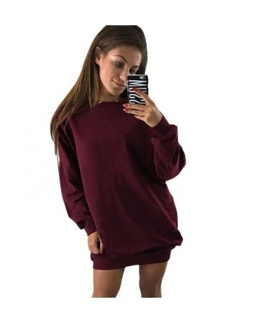 Fashion Women Hoodies Long Sleeve O Neck Sweatshirts Autumn Winter Lady Warm Loose Pullovers SSA-19ING - light grey - 4D4154...