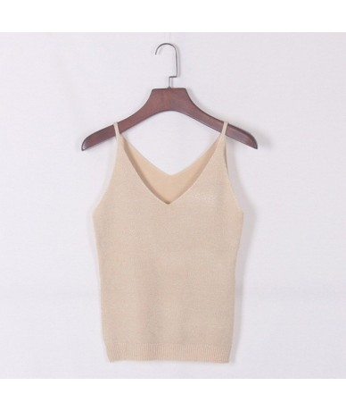 Newest Fashion Deep V-Neck Sexy Strappy Sleeveless Vest Women Tank Casual Tops T Shirt - A - 4B3015122466-9
