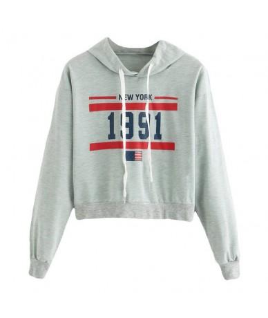 Fashion Womens Blouse hoodies Long Sleeve Sweatshirt Letter Hoodie Printed Causal Tops sudaderas para mujer - Mint Green - 4...