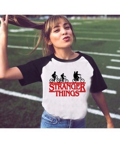 stranger thing women t-shirt Newest summer 2018 female novelty short sleeve design tshirt funny stranger things tshirt - 100...