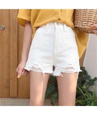 High waist Women Denim Shorts 2019 Summer Fashion New Loose Female Hole Denim Shorts Thin Wild Ladies Short Pants WIN803 - W...