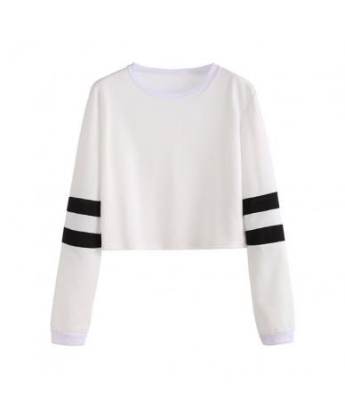 Women Hoodie Oversize 2019 Stripe Harajuku Hipster Goth Girl Streetwear Red Hip Hop Short Sweatshirt Black Casual Hoodies Au...
