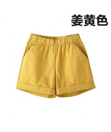 Female Plus Size Summer Mid Elastic Waist Solid Straight Pleated 100% Cotton Breathable Shorts Woman Oversized Sweat Shorts ...