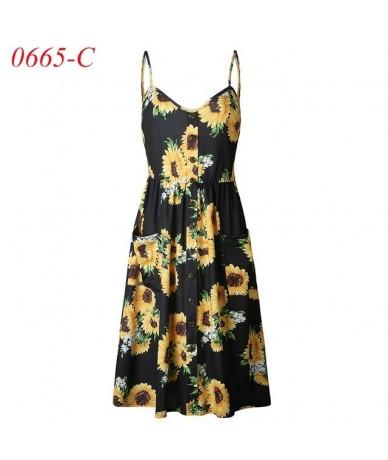Women's Sexy Summer Dresses 2019 Boho Plus XXXL Backless Sleeveless Button Striped Solid Midi Dress Slip Sundress With Pocke...
