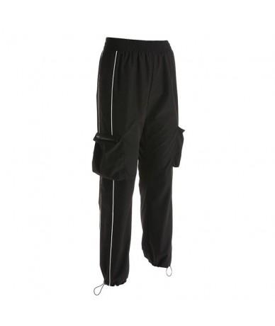 Pantalones Harajuku Casual Black Cargo Pants Women Elastic Pants Streetwear Korean Sweatpants Joggersburberry jogger size ca...