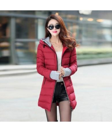 2019 Wadded Jacket Female Winter Jacket Women Down Cotton Jackets Slim Parkas Ladies Coat Womens Wadded Jaqueta Feminina TP0...