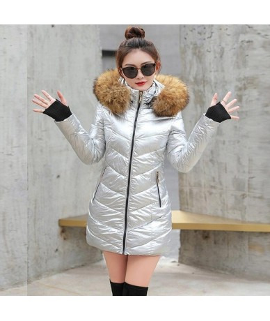 jackets woman winter coat 2019 big Fur collar parkas women winter jackets women Slim Hooded keep Warm short coat female autu...