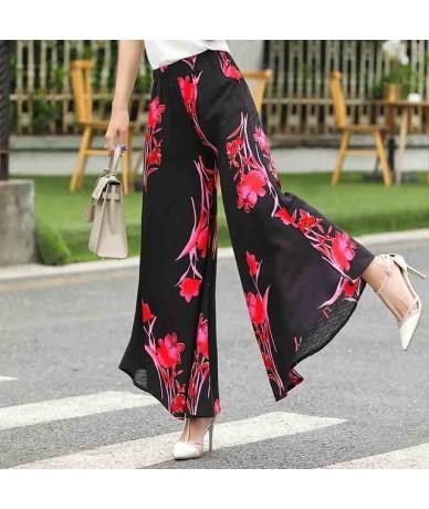 Summer slim fluid wide leg pants female trousers fancy plus size wide-leg pants feet straight casual boot cut - COLOR 17 - 4...