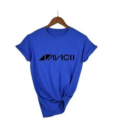 2019 Avicii DJ Logo Summer T-shirt Women Cotton Short Sleeve Print Fans Club Casual Hip Hop T Shirt Women Tshirt Tops - blue...