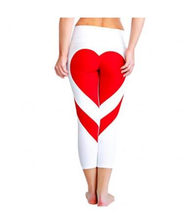 Splice Heart Large Size Women Leggings Stripe Breathable Soft Comfortable Leggings Fitness Feminina Leisure Leggins - Black ...