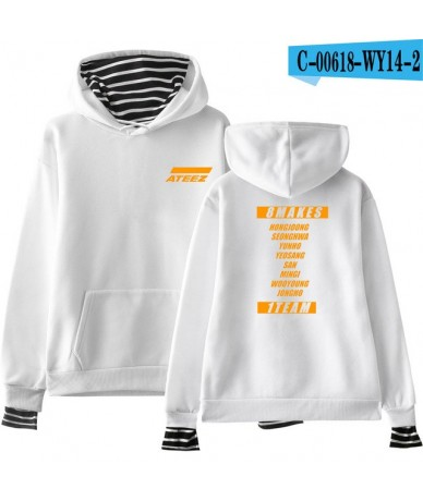 Kpop ATEEZ Hoodies Women Clothes 2019 Fashion Hoodies Sweatshirts Youtu Hip Hop Kpop Casual Harajuku Tops PlusSize - White -...