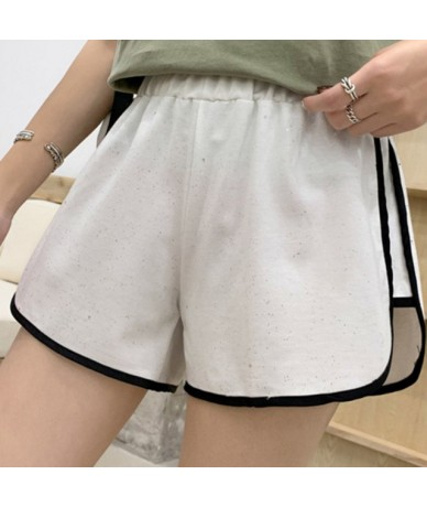 Wide Leg Patchwork Sports Women's Shorts Elastic Waist All Match Casual Short Fashion Sexy Loose Running Trousers For Female...