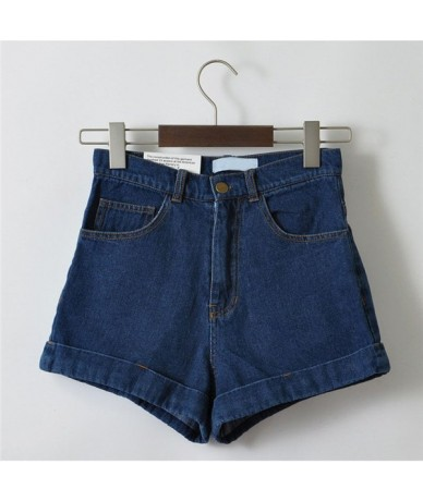 High Waist Denim Shorts for Women Vintage Sexy Brand Shorts Jeans Women Denim Shorts Feminino Slim Hip Plus Size C3627 - dar...