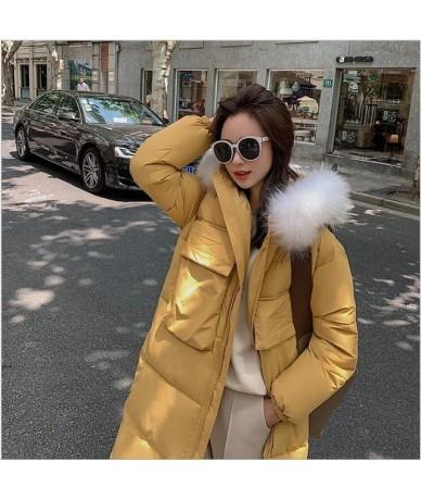 Women Winter Coat Jacket Warm Women Parka hooded Female Outerwear High Quality Cotton Long Winter Jacket Women 261 - YELLOW ...