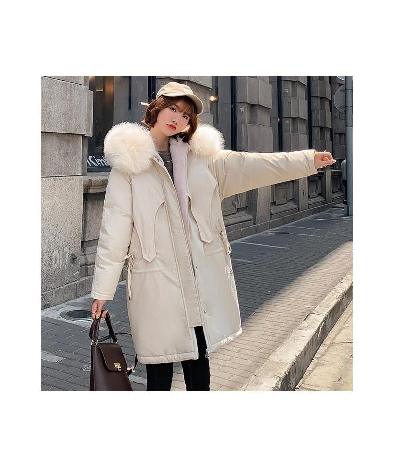2019 women winter hooded warm coat plus size cotton padded jacket female long parka womens fur wadded jaqueta feminina - Bei...