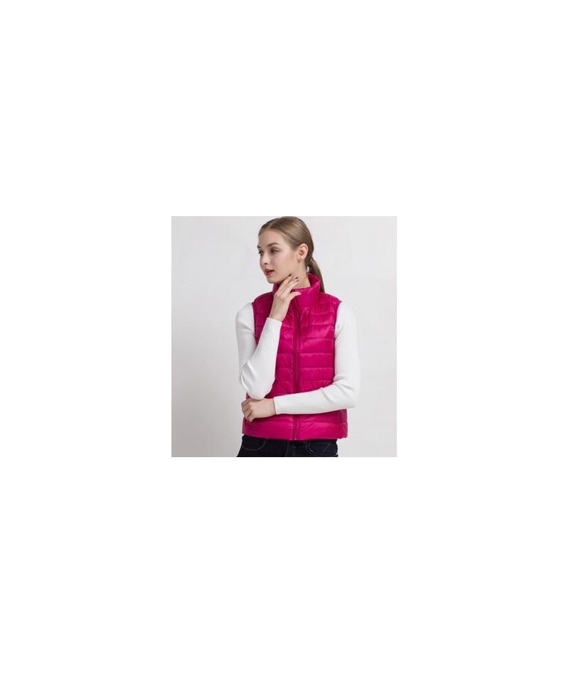 2018 New Women Vests Winter Ultra Light White Duck Down Vest Female Slim Sleeveless Jacket Women's Windproof Warm Waistcoat ...