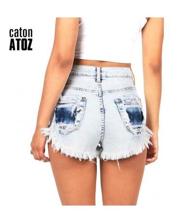 catonATOZ 2063 Women's Distressed Denim Shorts Fashion Brand Vintage Tassel Ripped Loose High Waist Shorts Punk Sexy Short J...