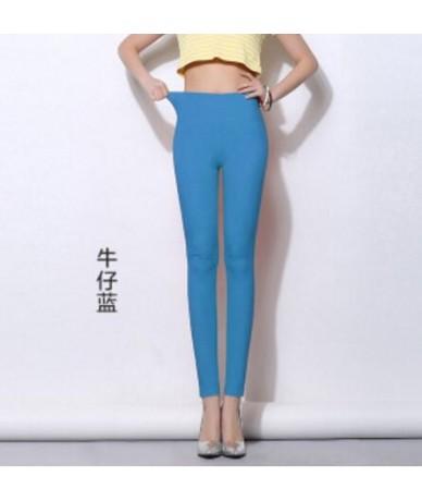 Elastic High Waist Women Pencil Pants Plus Size 5XL 6XL Large Leggings Female Candy Color 2018 Trousers Femme Pantalon - jea...