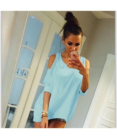 Bigsweety New Women T-Shirt 2019 Fashion O-Neck Off Shoulder Sexy Long TShirt Womens Top Tees Loose Casual T-shirt Plus Size...