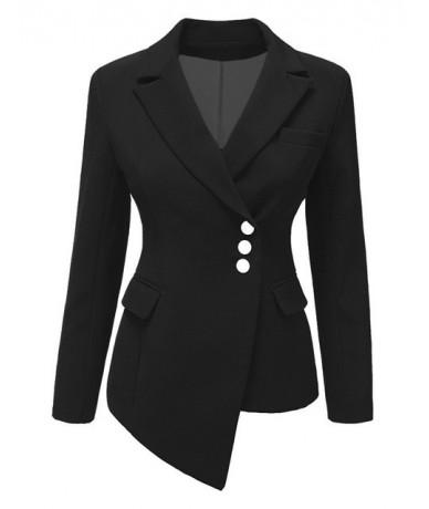 Women Long Sleeve Asymmetrical Top Women Khaki Blazer Lapel Ladies Casual Suit Girls Office Multicolor Suit Big Size 3xl Fem...